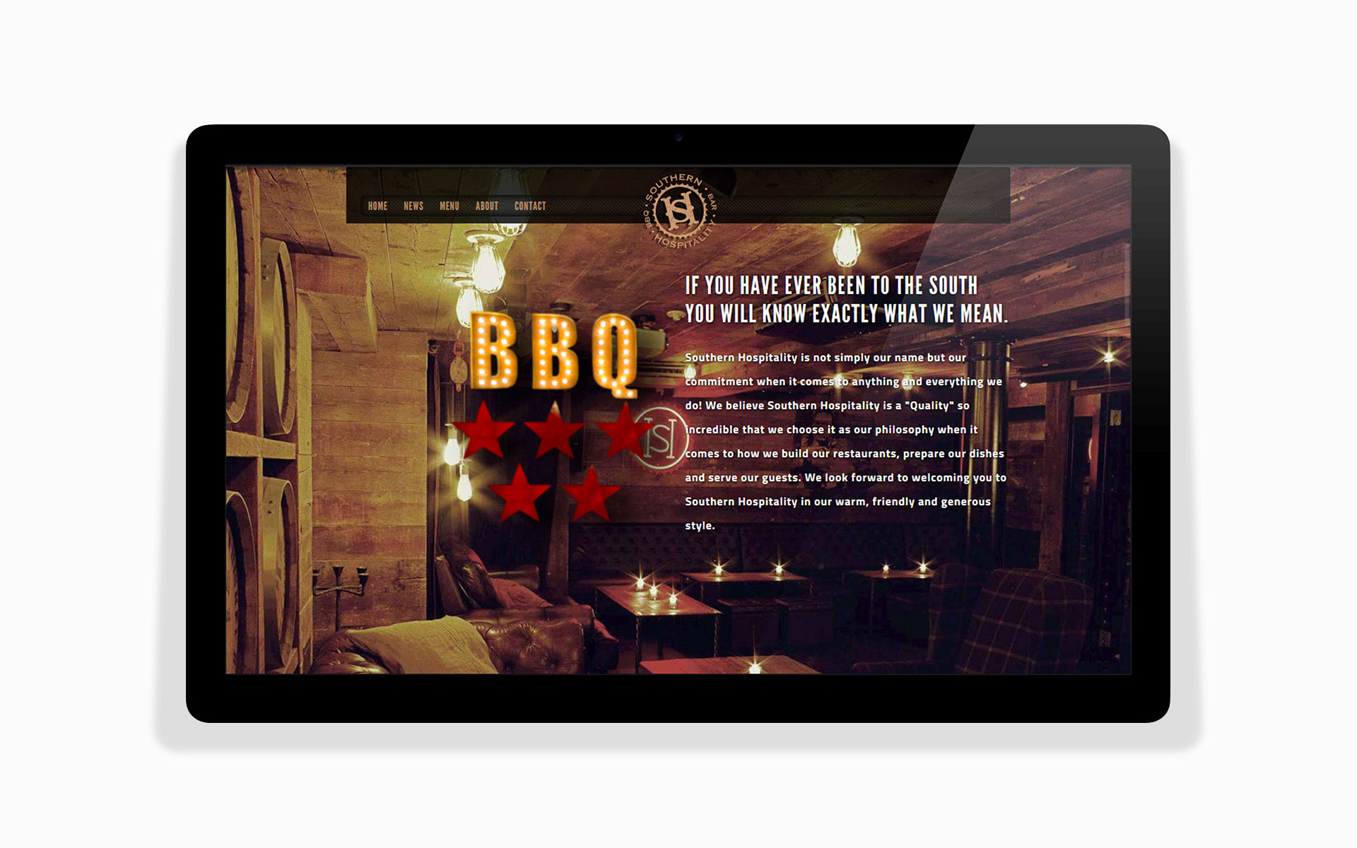 sh bbq restaurant about scroll