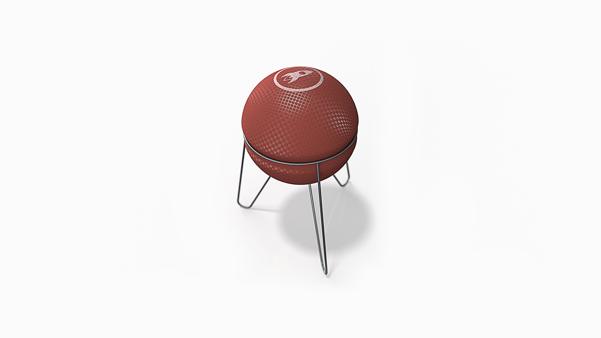 rocket ball stool by milt