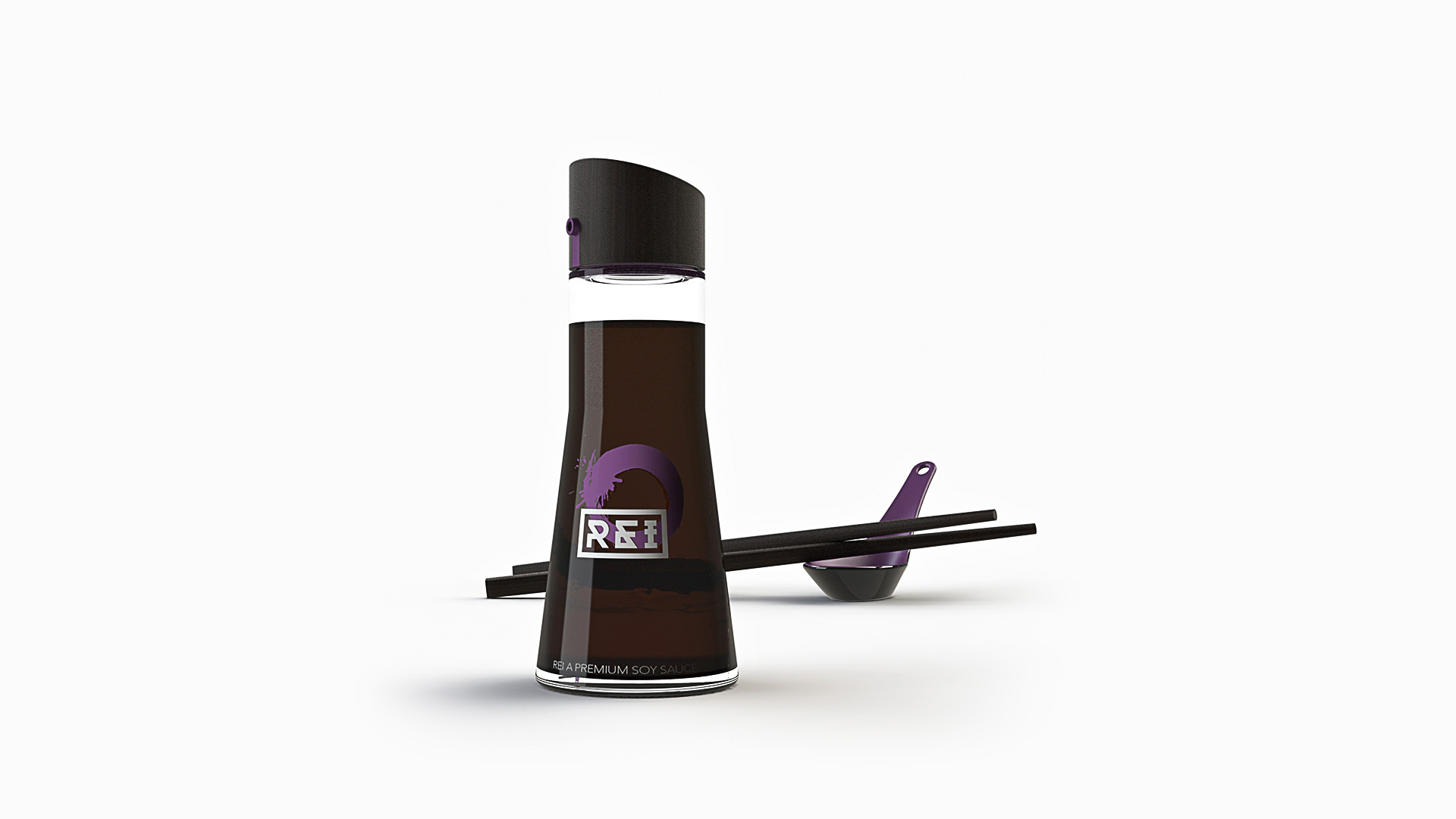 rei soy sauce packaging design